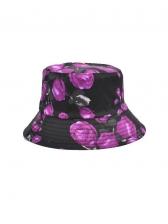 Rose Flower Print Vintage Trendy Fisherman Hat