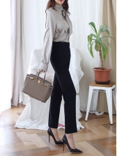 Business Work OL Style Fashion Two Pieces Pants Sets