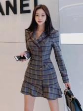 OL Ruffle Double Breasted Blazer Dress