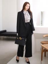 Fashion Bow Neck Two Piece Pant Sets