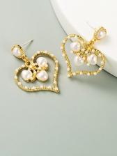Personality Faux Pearl Rhinestone Earrings