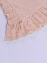 Sexy V Neck Ruffle Dot Mini Dress