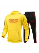 Stylish Hooded Neck Letter Plus Size Activewear