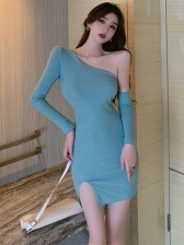 Sexy Club One Shoulder Dresses For Women