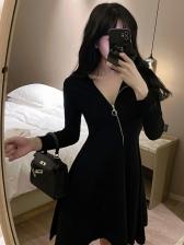 Unique Zipper-Designed Dresses For Women