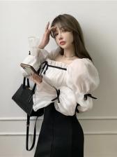 Elegant Patchwork Square Neck Dresses For Women