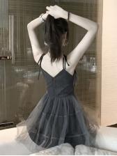 Gauze Camisole With Blazer 2 Piece Dress Set