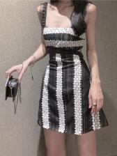 Cutout Color Block Sleeveless Summer Dresses