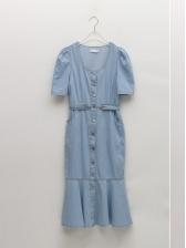 Korean Style Summer Casual Denim Dresses Women