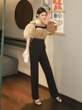 New Arrival Lantern Sleeve Fashion Trouser Sets Women