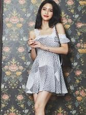 Fashion Dot Casual Camisole Dress For Women