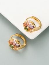 New Arrival Zircon Street Earrings For Women
