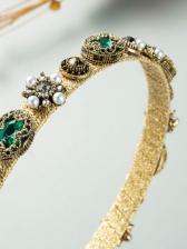 Baroque Vintage Style Stylish Rhinestone Hair Hoop
