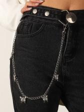 Hip Hop Simple Street Fashion Pants Chains