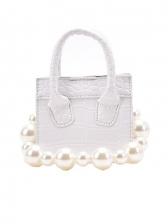 Fashion Plaid Faux Pearl Ladies Handbags