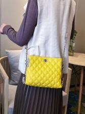 Casual RhombusPlaid Shoulder Bags