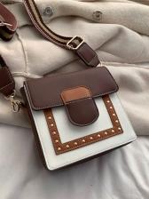 Contrast Color Korean Shoulder Bags