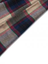 Plaid Plus Size Long Sleeve Shirts For Men
