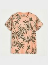 Letter Leaf Pure Cotton T Shirts For Men