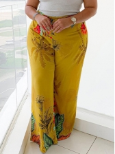 Loose Fitting Plus Size Floral Pants For Women