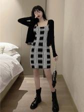 Easy Match Plaid Bodycon women dress