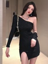 Night Club One Shoulder sexy dress
