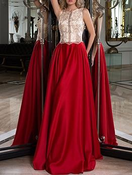 Latest Fitted Elegant Floor Length Sleeveless Evening Dresses