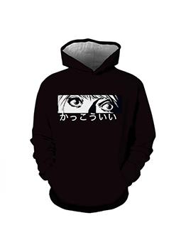 Cute Printed Hooded Long Sleeve Mens Sweatshirts