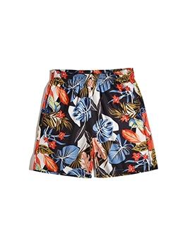 Casual Botanic Printed Men Hot Pants