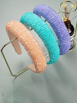 Fashion Sweet Color Wide Edge Hair Hoop Women