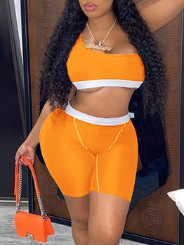 Sexy Summer Sport Two Pieces Short Pants Sets
