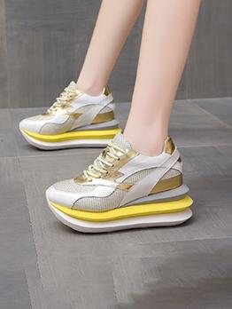 Casual Sport Korean Style Chunky Women Sneakers