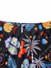 Chic Botanic Printed Men Short Sweatpants