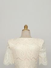 Skinny Temperament Lace Lady Style Short Sleeve Dress