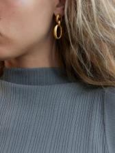 Create Solid Alloy Material Versatile Earrings