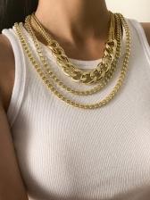 Hip Hop Vintage Trendy Cool Layered Necklace Sets