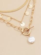 Stylish Vintage Faux-Pearl Pendant Necklace