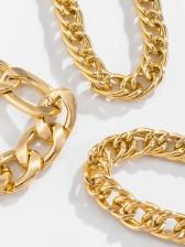 Hip Hop Hollow Out Bracelet Three Pieces Sets