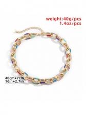 Contrast Color Design Geometry Necklace Women