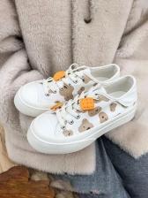 Stylish Versatile White Canvas Shoes Women