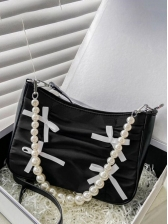 New Bow Faux Pearl Shoulder Bags