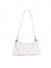 Faux Pearl AlligatorPrint Shoulder Bags