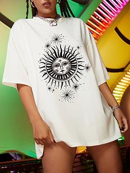 Contrast Color Short Sleeve T Shirt