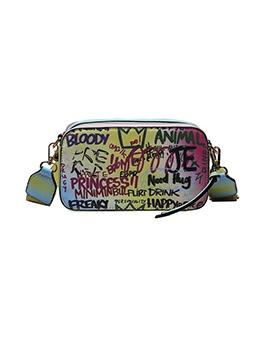 Doodle Letter Design Shoulder Bags Popular
