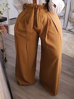 High Waist Loose Plus Size Long Pants