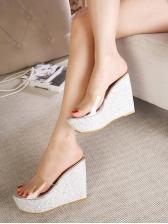 Clear Upper Slipper Wedges For Women