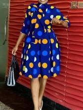 Colorful Polka Dots Long Sleeve Dress