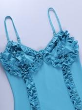 V Neck Backless Stringy Selvedge Mini Dress
