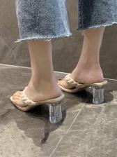 EurAmerican Style Stylish Women Heeled Slippers