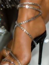 Rhinestone Design Party Fashion Heeled Sandals Women